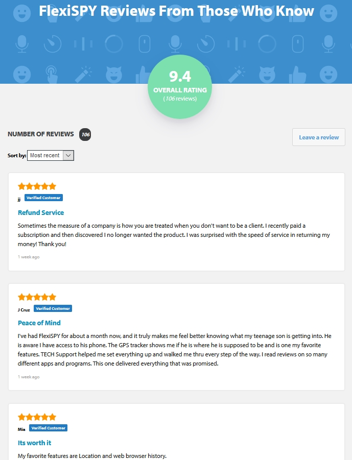 FlexiSPY Verified Customer Reviews